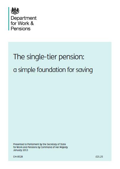 Single -Tier Pensions