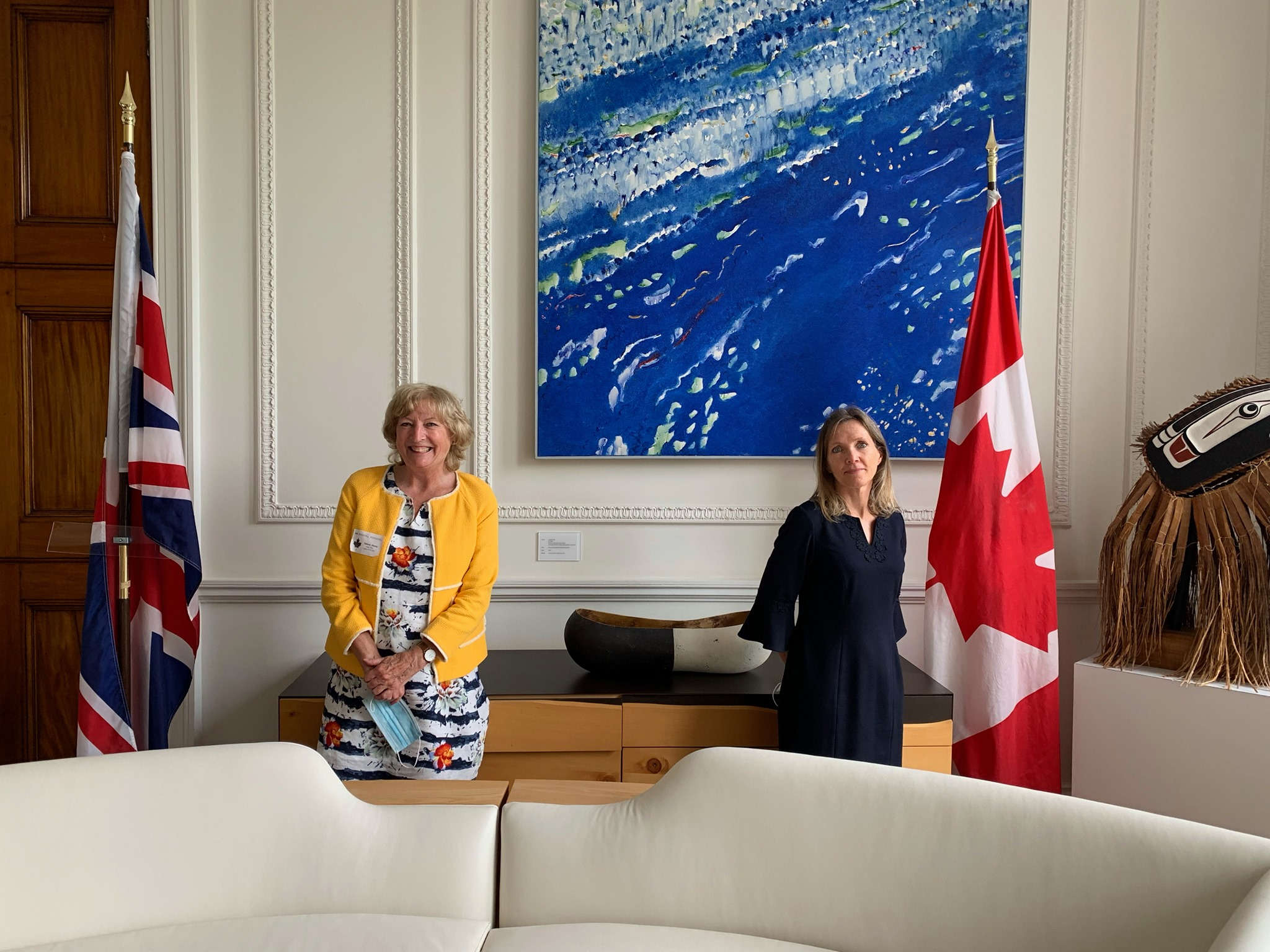 While visiting family in the UK, CABP director, Sheila Telford took time to visit the Canadian High Commission in London to discuss with the Deputy High Commissioner and Political Officer how the campaign to unfreeze pensions in Canada is progressing, and how the continued support of the Canadian government is essential to help us overcome the hurdles continually placed by the UK government